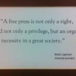 Quote by journalist Walter Lippmann