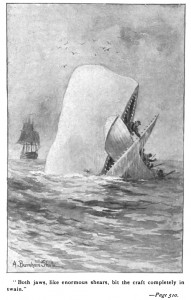 Illustration from an early edition of Moby-Dick